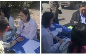 天津塘沽圣爱医院至西邻村开展肠癌早筛科普活动!